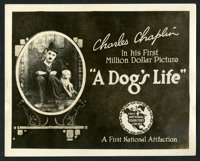 """A Dog's Life (First National, 1918). Title Lobby Card (8"""" X 10""""). Comedy"""