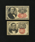 Fractional Currency:Fifth Issue, Two Different Short Key Fractionals.. ... (Total: 2 notes)