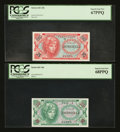 Military Payment Certificates:Series 641, Series 641 10¢ PCGS Superb Gem New 68PPQ. Series 641 25¢ PCGSSuperb Gem New 67PPQ.. ... (Total: 2 notes)