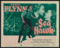 "The Sea Hawk (Dominant Pictures, R-1956). Title Lobby Card (11"" X 14""). Swashbuckler"