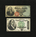 Fractional Currency:Fourth Issue, Stanton and Dexter 50¢ Fourth Issue Notes.. ... (Total: 2 notes)