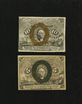 Fractional Currency:Second Issue, 5¢ and 10¢ Second Issue Notes.. ... (Total: 2 notes)