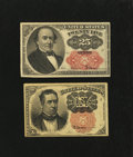 Fractional Currency:Fifth Issue, Two Different Fifth Issue Notes.. ... (Total: 2 notes)