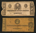 Confederate Notes:1862 Issues, Two Confederate Notes.. ... (Total: 2 notes)