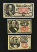 Fractional Currency:Fifth Issue, Three Different Fifth Issue Denominations.. ... (Total: 3 notes)