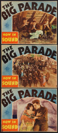 "Movie Posters:War, The Big Parade (MGM, R-1931). Lobby Cards (3) (10"" X 13""). War..... (Total: 3 Items)"