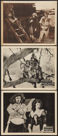 """Movie Posters:Serial, The Adventures of Robinson Crusoe Lot (Universal, 1922). Lobby Cards (3) (11"""" X 14""""). Serial.. ... (Total: 3 Items)"""