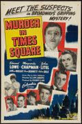 """Movie Posters:Mystery, Murder in Times Square (Columbia, 1943). One Sheet (27"""" X 41"""").Mystery.. ..."""