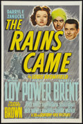 "Movie Posters:Adventure, The Rains Came (20th Century Fox, 1939). One Sheet (27"" X 41"")Style B. Adventure.. ..."