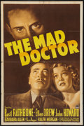 "Movie Posters:Crime, The Mad Doctor (Paramount, 1941). One Sheet (27"" X 41""). Crime....."