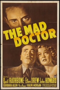 """The Mad Doctor (Paramount, 1941). One Sheet (27"""" X 41""""). Crime"""