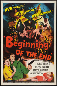 """Beginning of the End (Republic, 1957). One Sheet (27"""" X 41""""). Science Fiction"""