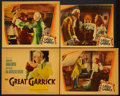 "Movie Posters:Comedy, The Great Garrick (Warner Brothers, 1937). Title Lobby Card and Lobby Cards (2) (11"" X 14"") and Lobby Card (10.75"" X 12.75"")... (Total: 4 Items)"