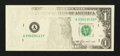 Error Notes:Missing Face Printing (<100%), Fr. 1913-A $1 1985 Federal Reserve Note. Very Fine.. ...