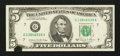 Error Notes:Ink Smears, Fr. 1977-G $5 1981A Federal Reserve Note. Choice CrispUncirculated.. ...