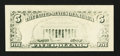 Error Notes:Blank Reverse (<100%), Fr. 1980-A $5 1988A Federal Reserve Note. Extremely Fine-AboutUncirculated.. ...