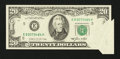 Error Notes:Foldovers, Fr. 2075-E $20 1985 Federal Reserve Note. Very Fine+.. ...