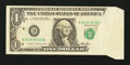 Error Notes:Foldovers, Fr. 1913-D $1 1985 Federal Reserve Note. Very Fine.. ...