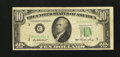 Error Notes:Skewed Reverse Printing, Fr. 2011-C $10 1950A Federal Reserve Note. Fine.. ...