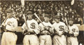 Baseball Collectibles:Photos, 1917 Chicago White Sox Photograph with Jackson by George Bain....