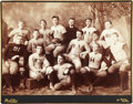 Football Collectibles:Photos, 1887 Harvard Football Team Imperial Cabinet Photograph....
