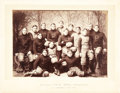 Football Collectibles:Photos, 1896 Princeton Football Team Imperial Cabinet Photograph....