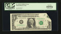 Error Notes:Foldovers, Fr. 1907-B $1 1969D Federal Reserve Note. PCGS Very Fine 35PPQ.....