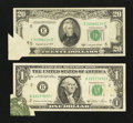 Error Notes:Foldovers, $1 and $20 FRN Foldover Errors.. ... (Total: 2 notes)