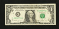 Error Notes:Ink Smears, Fr. 1915-C $1 1988A Federal Reserve Note. Very Fine.. ...