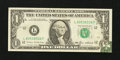 Error Notes:Foldovers, Fr. 1913-L $1 1985 Federal Reserve Note. Very Fine-Extremely Fine.....