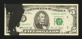 Error Notes:Ink Smears, Fr. 1973-F $5 1974 Federal Reserve Note. Very Fine-Extremely Fine.....