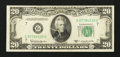 Error Notes:Obstruction Errors, Fr. 2063-D $20 1950D Federal Reserve Note. Very Fine-ExtremelyFine.. ...