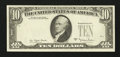 Error Notes:Third Printing on Reverse, Fr. 2024-B $10 1977A Federal Reserve Note. Very Fine.. ...