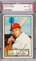 Baseball Cards:Singles (1950-1959), 1952 Topps Willie Jones #47 PSA NM-MT+ 8.5 - Pop 1-of-1 With NoneHigher!...