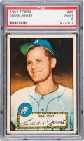 Baseball Cards:Singles (1950-1959), 1952 Topps Eddie Joost #45 PSA Mint 9 - Pop 1-of-1 With NoneHigher!...