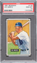 Baseball Cards:Singles (1950-1959), 1951 Bowman Vic Wertz #176 PSA Gem Mint 10....