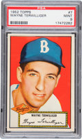 Baseball Cards:Singles (1950-1959), 1952 Topps Wayne Terwilliger #7 PSA Mint 9 - Pop 1-of-1 With NoneHigher!...