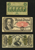 Fractional Currency:First Issue, Three 50¢ Fractional Types.. ... (Total: 3 notes)