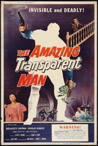 """The Amazing Transparent Man (Miller-Consolidated Pictures, 1959). Poster (40"""" X 60""""). Science Fiction"""