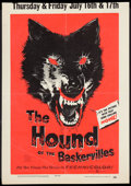 "Movie Posters:Mystery, The Hound of the Baskervilles (United Artists, 1959). Window Card(14"" X 20""). Mystery.. ..."