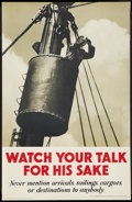 Movie Posters:War, War Propaganda Poster (Her Majesty's Stationery Office, London,England, Gilbert Whitehead & Co., Ltd., 1940s) Poster (19.25...