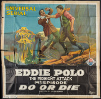 """Do or Die (Universal, 1921). Six Sheet (81"""" X 81"""") Chapter 14 -- """"Midnight Attack."""" Serial"""