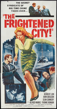 """The Frightened City (Allied Artists, 1962). Three Sheet (41"""" X 81""""). Crime"""