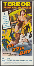 """Movie Posters:Science Fiction, The 27th Day (Columbia, 1957). Three Sheet (41"""" X 81""""). Science Fiction.. ..."""