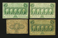 Fractional Currency:First Issue, 10¢ and 50¢ First Issues.. ... (Total: 4 notes)