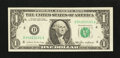 Error Notes:Skewed Reverse Printing, Fr. 1913-D $1 1985 Federal Reserve Note. Extremely Fine.. ...