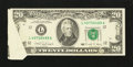 Error Notes:Attached Tabs, Fr. 2077-L $20 1990 Federal Reserve Note. Very Fine-ExtremelyFine.. ...