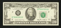 Error Notes:Skewed Reverse Printing, Fr. 2075-B $20 1985 Federal Reserve Note. Choice About Uncirculated.. ...