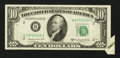 Error Notes:Foldovers, Fr. 2013-B $10 1950C Federal Reserve Note. Extremely Fine.. ...