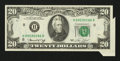 Error Notes:Foldovers, Fr. 2071-H $20 1974 Federal Reserve Note. Choice AboutUncirculated.. ...